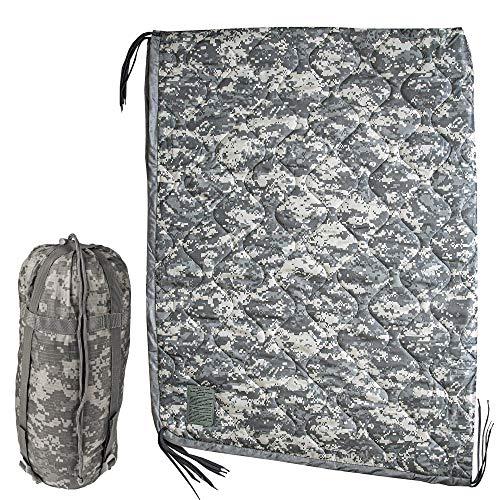 USGI Industries Military Camo All Weather Woobie Poncho Liner Blanket (ACU)