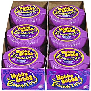 Hubba Bubba Bubble Tape, Gushing Grape, 6 Feet of Gum, 12 Count