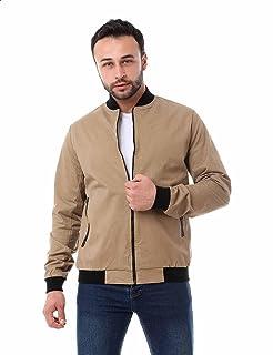 Andora Side Pockets Front Zip Elastic Cuffs Jacket for Men