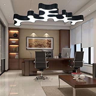 LJY Black Shaped Lights Customized LED Villa Chandelier Duplex Building Creative Office Dance Room Suspension Line Light 1...