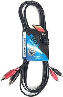 Proel BULK555LU18/Cavo audio professionale con connessioni 2 x Jack Mono 6.3mm a 2 x RCA 1.8mt
