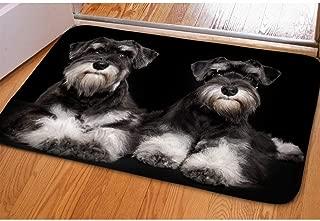 Showudesigns Non-Slip Floor Mats Holidays Front Doormats Indoor/Outdoor Carpet Schnauzer