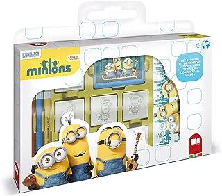 Multiprint Valise 7 Timbres Enfants Minions 2, 100% Made in Italy, Tampons Enfants Personnalisés, en Bois et Caoutchouc Na...