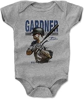 500 LEVEL Brett Gardner New York Baseball Baby Clothes & Onesie (3-24 Months) - Brett Gardner Sketch