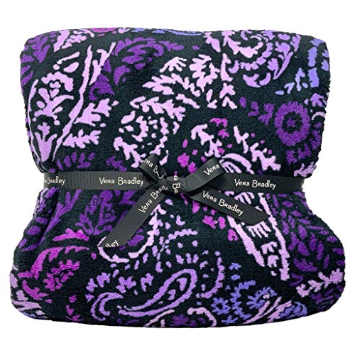 Vera Bradley Throw Blanket, Paisley Amethyst