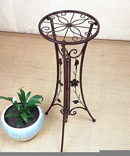 LHPHUAJIA Racks de Fleurs en Fer Européen Creative intérieur Salon Balcon Simple Couche Flower Pot Rack Pliable Blanc et Noir (Couleur : C, Taille : 33 * 78cm)