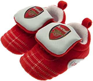 Arsenal FC Touch Fastening Baby Crib Shoes (9-12 Months) (Red/White)