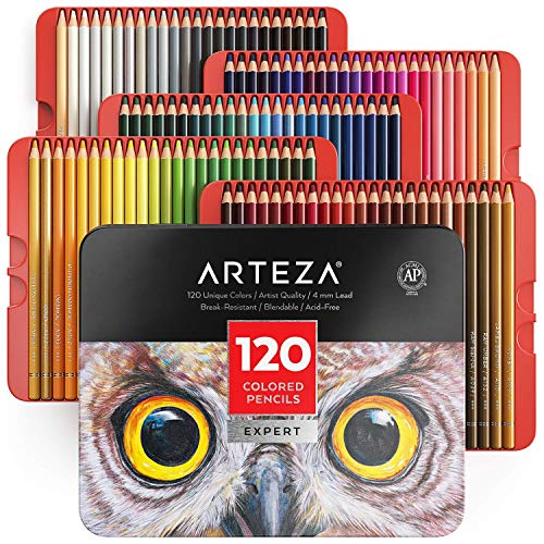 Arteza Professional 120-Piece Colored Pencil Set in Tin Box - $62.39 Shipped