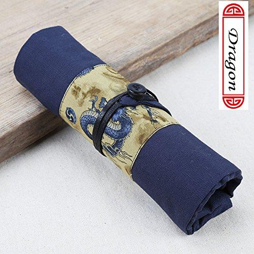 Xiduobao tela matita Wrap portatile da viaggio porta matite sacchetto di matita roll organizer per adulti Artist (matite non sono incluse)