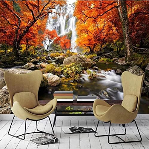 Cascada naturaleza paisaje pintura de pared 3D papel tapiz sala de estar sofá TV Fondo Peint Mural impermeable-200 * 140 cm