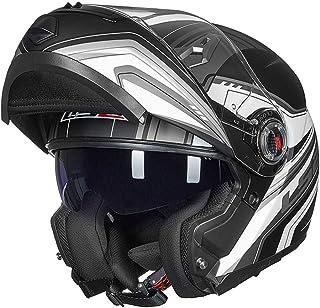 X.N.S(希望)(23色可選) LS2-370 バイクヘルメット フルフェイスヘルメット システムヘルメット ダブルシールド ジェット ヘルメット (XXL, 商品8)