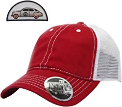 The Vintage Year Washed Cotton Low Profile Mesh Adjustable Trucker Baseball Cap
