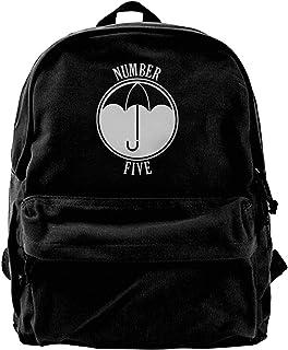 Mochila de Lona Umbrella Academy Number Five Mochila Gimnasio Senderismo Laptop Bolsa de Hombro Mochila para Hombres Mujeres