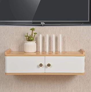 CIGONG Mueble TV de pared móvil para TV estante para Router Dvd Set-Top Box almacenamiento para colgar estantes móviles estantería