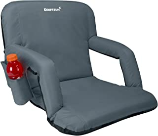 Driftsun Reclining Stadium Seat, Bleacher Chair with Back Support, Folding Sport Chair Reclines Perfect for Bleachers Lawns and Backyards