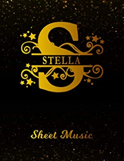 Stella Sheet Music: Personalized Name Letter S Blank Manuscript Notebook Journal | Instrument Composition Book for Musician & Composer | 12 Staves per ... | Create, Compose & Write Creative Songs