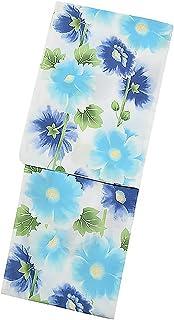 [ KIMONOMACHI ] オリジナル 浴衣セット「ブルータチアオイ」女性浴衣3点セット 浴衣+浴衣帯+下駄フリーサイズ