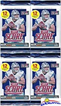 2017 Score NFL Football Collection of FOUR(4) Factory Sealed Packs with 48 Cards! Loaded with ROOKIES & INSERTS! Look for RCS & AUTOS of Patrick Mahomes, Deshaun Watson, Mitch Trubisky & More! WOWZZER