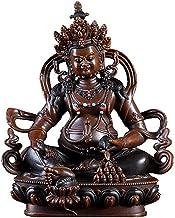 PPCP Decorative Brass Sculpture, Tibetan Bodhisattva God of Wealth Buddha Statue, Desktop Research Works, Auspicious and L...