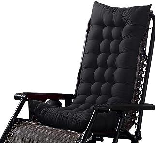 kaiyingyu Cojín cómodo y universal para tumbona de respaldo alto, cojín de repuesto para silla de ratán, cojín de 125 x 45 x 8 cm, color negro