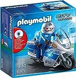 Playmobil Motorradstreife con LED-Blinklicht