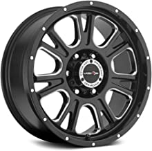 20 inch 20x9 Vision Off-Road Fury Gloss Black Milled Spoke wheel rim; 5x150 bolt pattern with a +12 offset. Part Number: 399-2950MS12