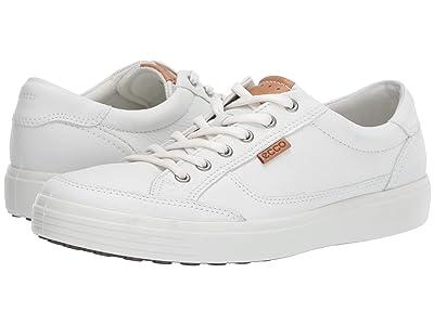 ECCO Soft Retro Sneaker (White Cow Leather) Men
