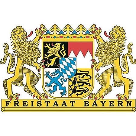 U24 Aufkleber Freistaat Bayern Wappen Autoaufkleber Sticker Konturschnitt Auto