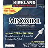 Kirkland Signature Extra Strength for Men Minoxidil Topical Solution, 12 Fluid Ounce