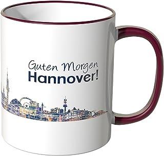 WANDKINGS® Tasse, Schriftzug Guten Morgen Hannover! mit Sky