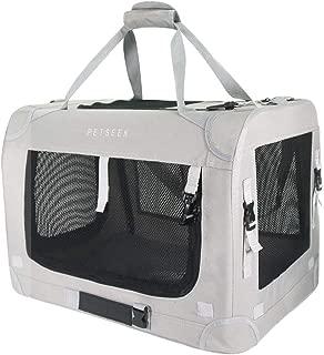 Petseek Extra Large Cat Carrier Soft Sided Folding Small Medium Dog Pet Carrier 24