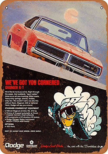 Wall-Color 7 x 10 Metal Sign - 1969 Dodge Charger R/T - Vintage Look 4