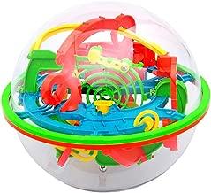 Naisidier Puzzle 100 barreras 3D Laberinto mágico intelecto Bola Equilibrio Laberinto Rompecabezas del Juguete