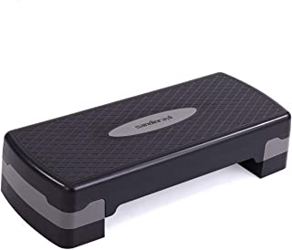 """JAXRL 27"""" Adjustable Aerobic Stepper w/Risers & Non-Slip Pads, Exercise & Fitness Step Platform w/Anti-Skid and Shock Abso..."""