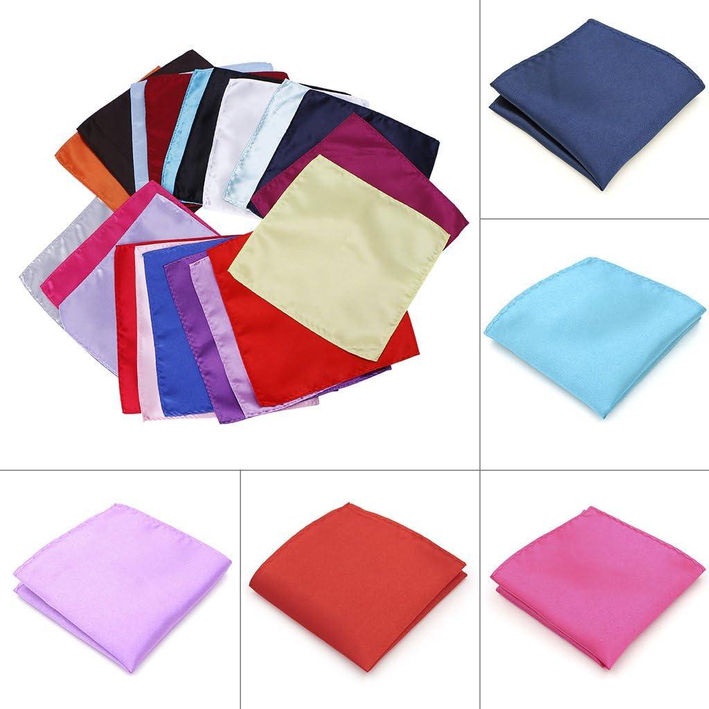 ETSK Men Suits Pocket Handkerchief Small Square Towels Wedding Dress Pure Color