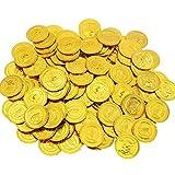 BAKHK 200 Piraten Goldmünzen 3,5 cm, Piratenschatz Piraten Münzen Kindergeburtstag Geschenk...
