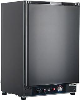 Smad 3 Way Refrigerator 12v Fridge for RV Trucks Peopane Refrigerator No Noise, AC/DC/LPG,55 Qt, Black