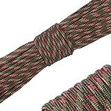 パラコード 4mm 31m 9芯 テント ロープ パラシュートコード ミルスペック 耐荷重 250kg(550LB) 定番 迷彩柄 登山用品 キャンプ サバイバル アウトドア タープ用 (迷...