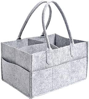 port/átil multifunci/ón bolsa de almacenamiento plegable de fieltro reci/én nacido ligero MARSIGNAL Organizador de pa/ñales para beb/é compartimentos intercambiables para mam/á ni/ños pa/ñales
