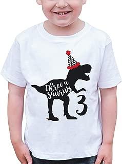 Dino Three Birthday Dinosaur T-Shirt