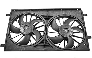 Dual Cooling Fan Motor Shroud Assembly Replacement for Chrysler Dodge Jeep SUV 68004051AA 68031873AA