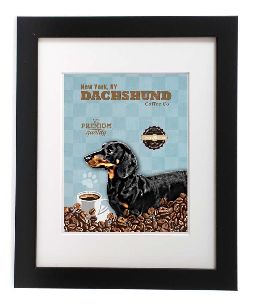 Coffee Dachshund 5x7 Eco-friendly Print