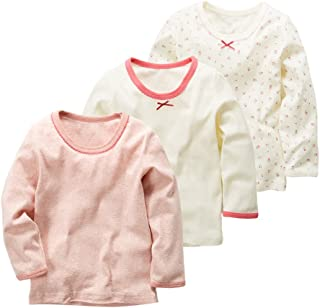 JanLEESi Baby Long Sleeve Top Kids Clothes 3-Pack