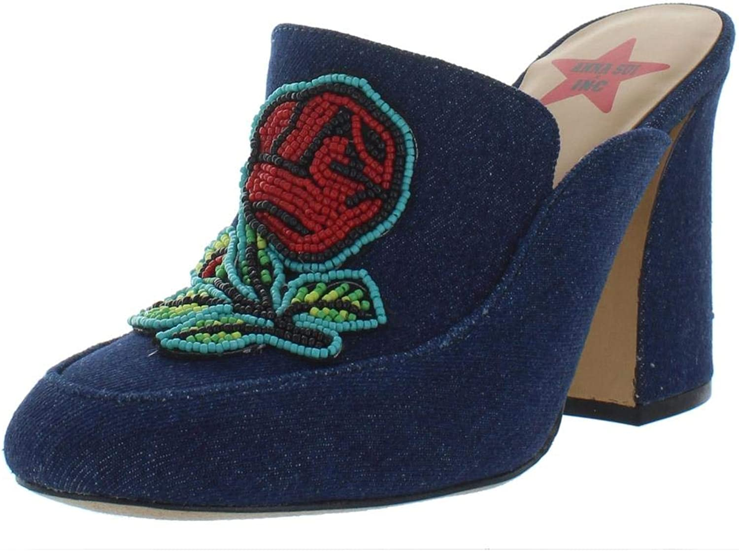 Inc Womens Maddiee 2 Embroidered Mules