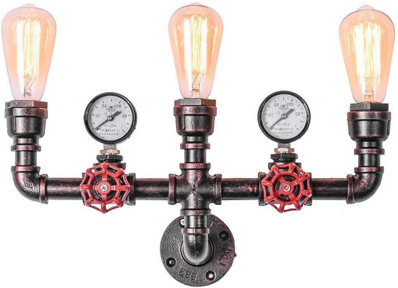 SXFYWYM Retro Industrial Wind Wall Lampe Sanitr Licht Kreative DREI-Fernkopfwand Beleuchtung,Threeheads,23x9x45cm