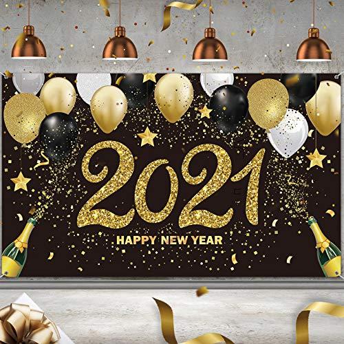 Fondo de Fotografía de 2021 Happy New Year Bandera de Feliz