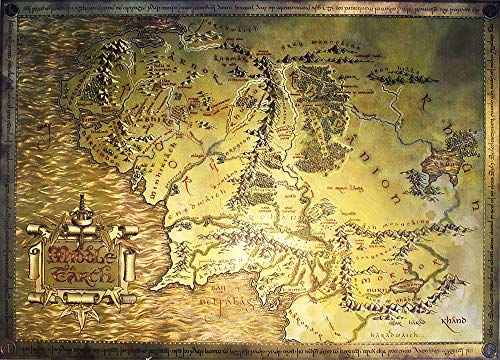 photo enlargements onlines POSTER STOP ONLINE The Lord of The Rings/The Hobbit - Map of Middle Earth - Limited Edition Metallic Dufex Movie Poster/Art Print (Size 27