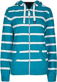 New Lazy Jacks Mint Green White Narrow Stripe Hooded  Top 8 10 12 14 16 18