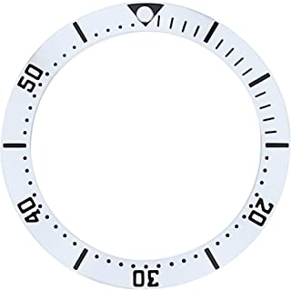 BEZEL INSERT FOR OMEGA SEAMASTER WATCH SILVER COLOR SMALL NUMBER