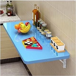 LSXIAO Polyvalent Table Pliable, Mural Table À Abattant, Bois Pendaison Table À Manger Cuisine Étagère De Rangement Planch...